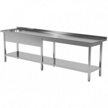 Stół ze zlewem i półką...