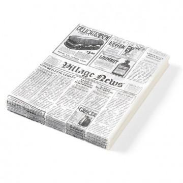 Papier pergaminowy nadruk gazety 200x250
