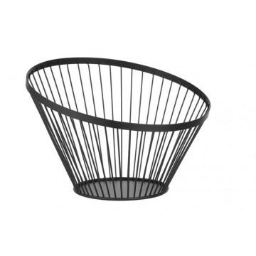 Koszyk do owoców czarny, wys. 250 mm