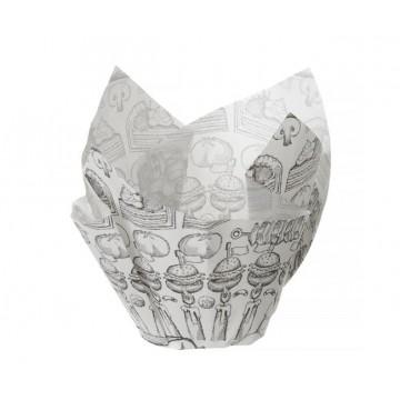 Foremka pergaminowa w kształcie koszyka (150 sztuk), nadruk