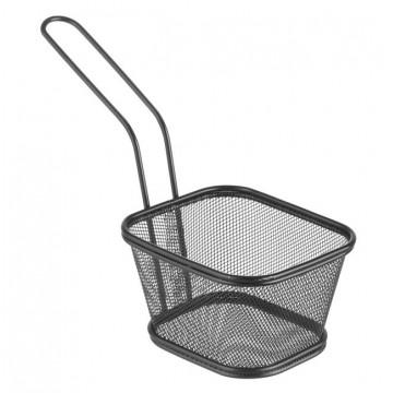 Koszyk miniaturowy do smażonych przekąsek, czarny 130x115x80