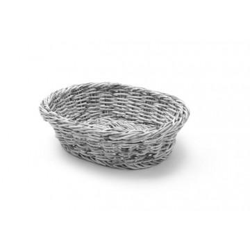 Koszyk owalny, szary, 250x190 mm