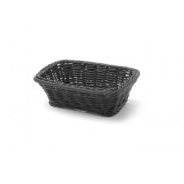 Koszyk prostokątny, czarny, 190x130 mm