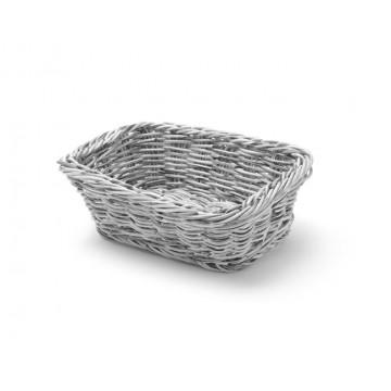 Koszyk prostokątny, szary, 190x130 mm