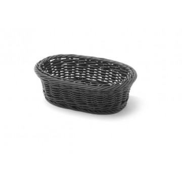 Koszyk owalny, czarny, 190x120 mm