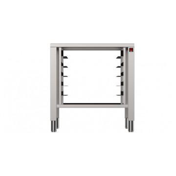 Podstawa pod piec, prowadnice na tace 5x600x400 mm, o wym. 850x787x770 mm