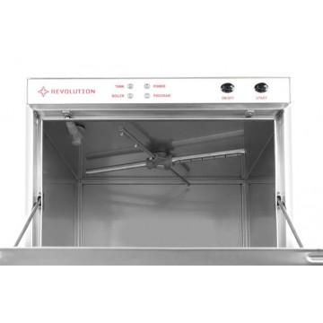Zmywarka do szkła 40x40 - sterowanie elektromechaniczne z pompą spustową