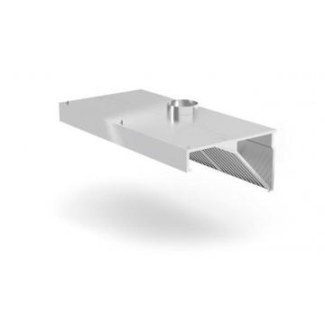 Okap przyścienny skośny z oświetleniem, o wym. 1000x700x450 mm
