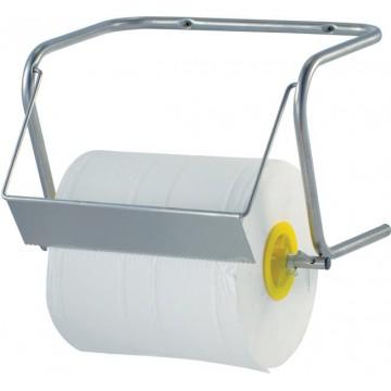 Naścienny, przemysłowy dyspenser na dużą rolkę ręczników papierowych do średnicy max. 350 mm,(h)300 mm, 250x400x(h)280 mm