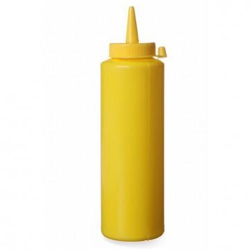 Dyspenser do zimnych sosów  0,70 żółty zestaw 3 szt.