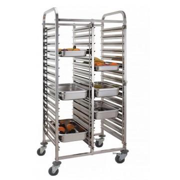 Wózek do transportu pojemników - podwójny 30x GN 1/1