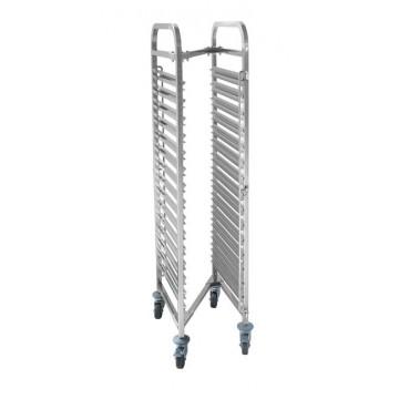 Wózek do transportu pojemników, kompaktowy - 15x GN 1/1