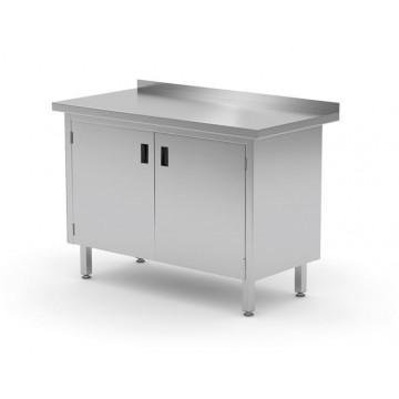 Stół przyścienny szafka z drzwiami na zawiasach, o wym. 1200x600x850 mm