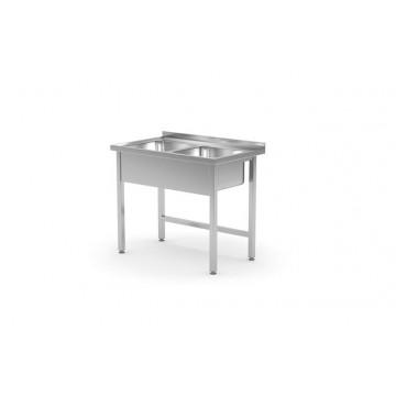 Stół z dwoma zlewami - skręcany, o wym. 1000x700x(H)850 mm