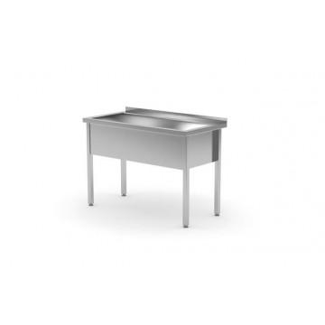 Stół z basenem jednokomorowym - spawany o wym. 1000 x 700 x 850mm