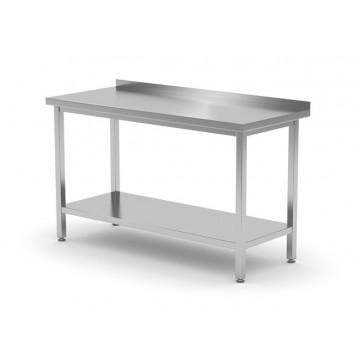 Stół przyścienny z półką  - skręcany, o wym. 1900x700x850 mm