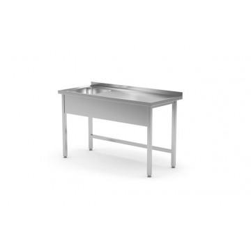 Stół z jednym zlewem lewy - skręcany, o wym. 1000x600x(H)850 mm