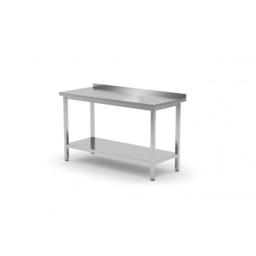 Stół roboczy przyścienny z półką - skręcany, o wym. 600x700x850 mm