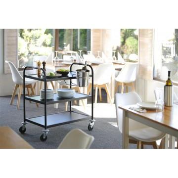 wózek kelnerski 3-półkowy, czarny, 900x590x930 mm