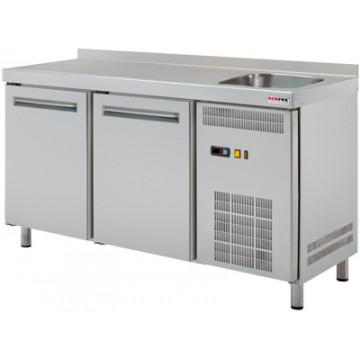 RT 2DS Stół chłodniczy dwudrzwiowy ze zlewem