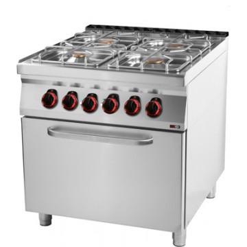 SPT 90/80 - 21 GE Kuchnia gazowa z piekarnikiem elektrycznym