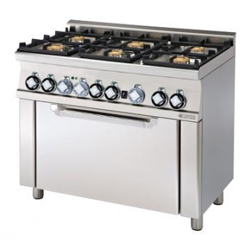 CFM6 - 610 GEM Kuchnia gazowa zpiekarnikiem elektrycznym
