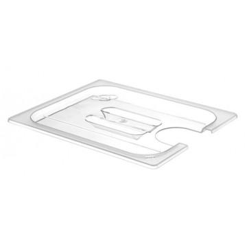 Pokrywka do pojemników GN 1/2 z poliwęglanu z wycięciem na Cyrkulator Sous-Vide 222997